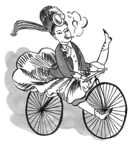 Click on the image for more Kate Beaton/awful velocipedestrienne excellence!